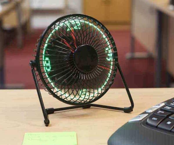 Desktop LED Clock Fan 03